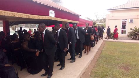 a mournful atmosphere at jb danquah s funeral
