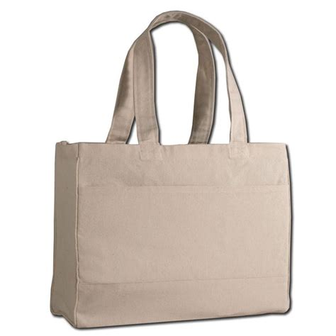 heavy canvas tote bag with inside zipper pocket