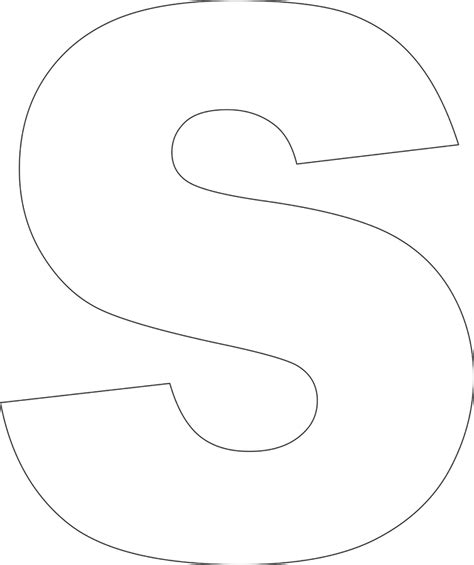 Letter S Template To Print Free Printable Lower Case Alphabet Letter Template