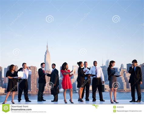 In Nyc For Meetings Today Just In Time For The Re by Outdoor Business Meeting In New York City Stock Image