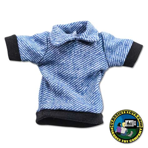 8 inch figure clothes blue turtleneck sleeved shirt for 8 inch figures