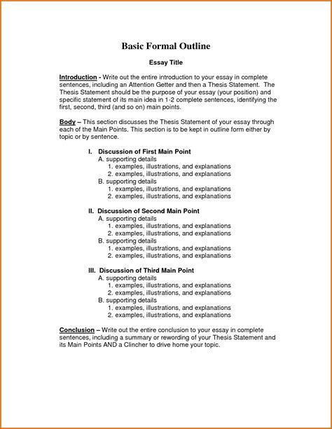 sles of outlines for essays formal essay format cover letter retail sales associate