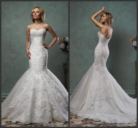elegant 2016 mermaid amelia sposa wedding dresses trumpet