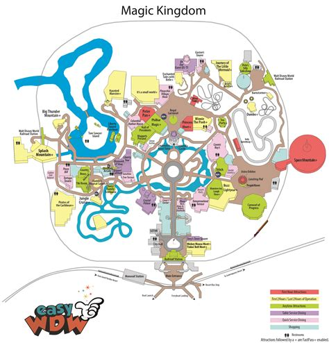 printable version of magic kingdom map easy guide 2017 changes yourfirstvisit net