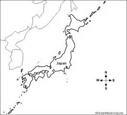 Japan Map Cities Outline by Outline Map Japan Enchantedlearning