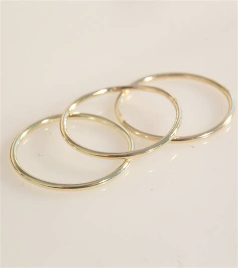 knuckle ring stacking rings thin ring gold knuckle ring