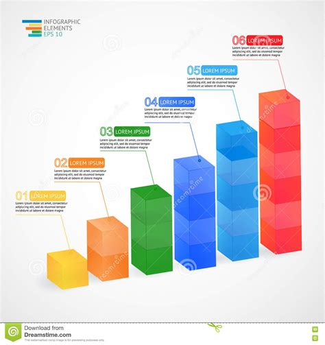 html design graph modern multicolor vector 3d growing graph infographic for