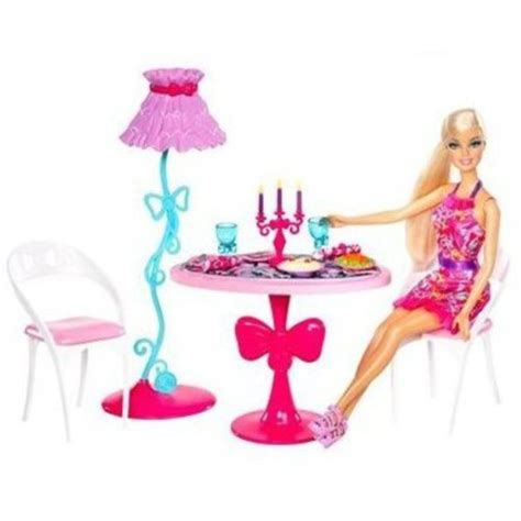 barbie dining room set barbie glam dining room furniture and doll play set
