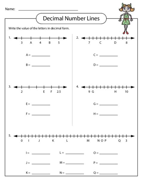 printable number line with tenths decimal number lines number maths and decimal number