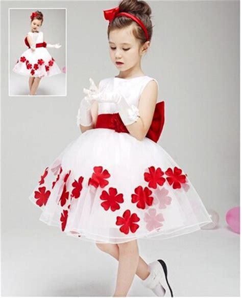 2in1 Flower Tutu Dress Anak flower applique back bow tie dress