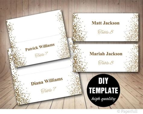 wedding place cards templates printable placecards place cards wedding gold wedding