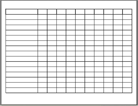 8 best images of free printable work schedule template