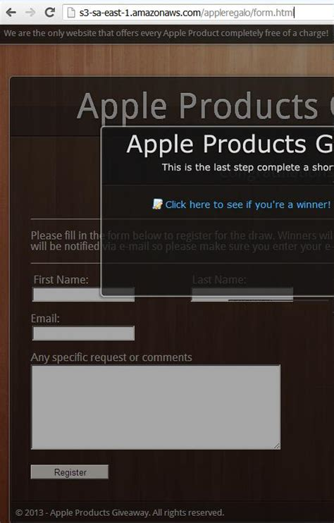 Apple Giveaway Scam - apple imac store products giveaway scam july 2013