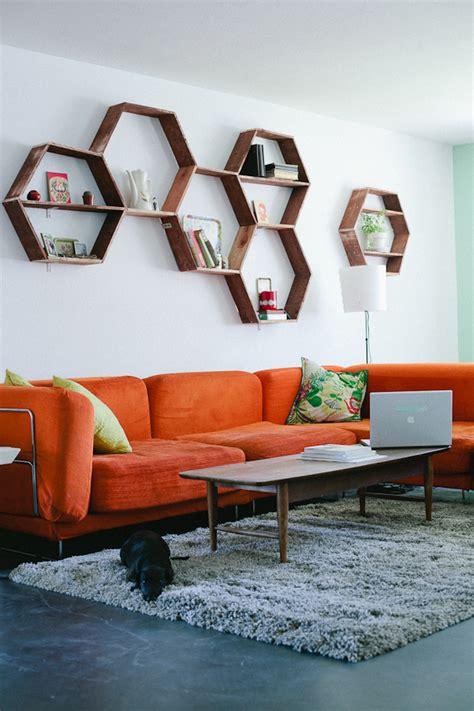 diy wood honeycomb shelves decoist