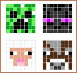easy pixel templates easy minecraft pixel sop exle