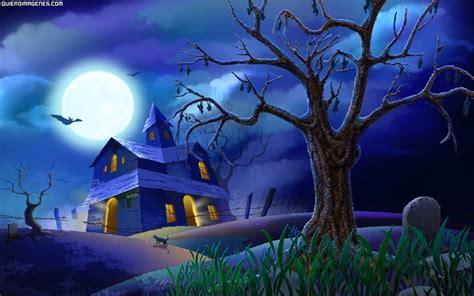 fondo de pantalla de calabaza castillo cementerio paisaje halloween
