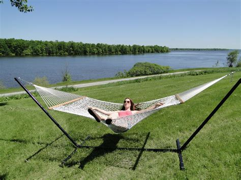 Buy Hammock And Stand Choosing The Cotton Rope Hammock With 3 Beam Stand 187 Buy