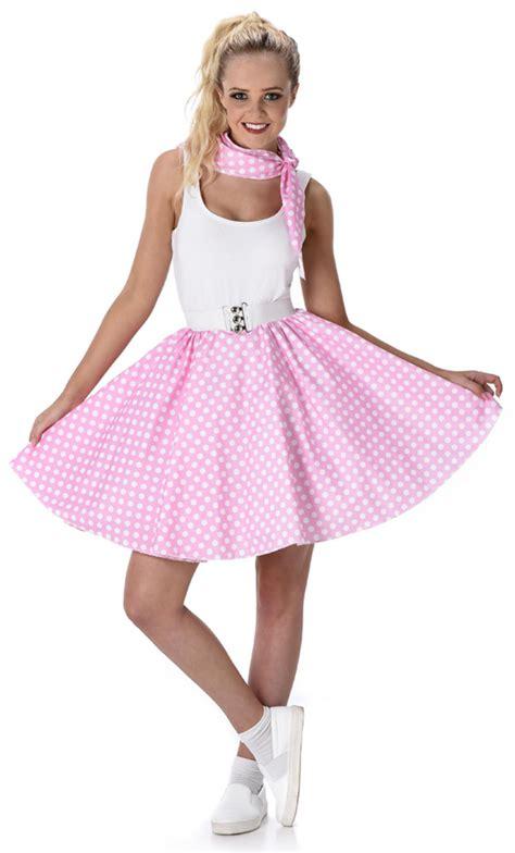 Rok Polka Pink baby pink polka dot skirt costume all