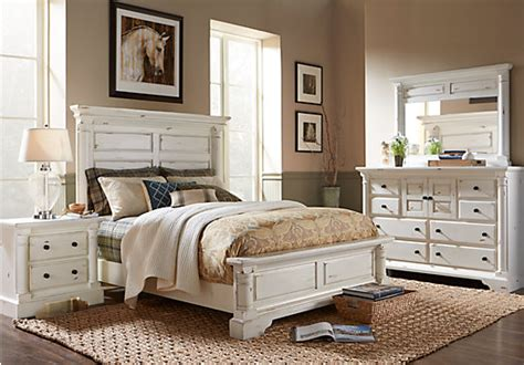 claymore park  white  pc king panel bedroom bedroom sets white