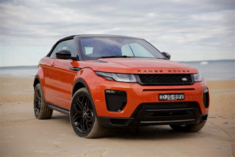 orange range rover 2017 land rover range rover evoque convertible review
