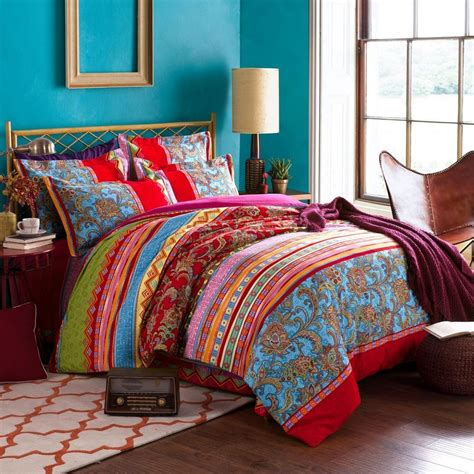 Bedding Set Bohemian Ethnic Style Bedding Sets Boho Duvet Cover Set Cotton 4 Ebay