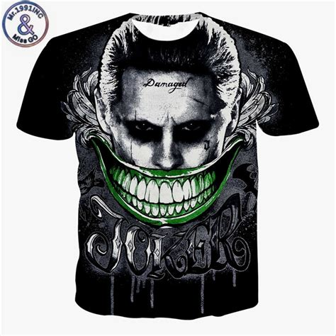 New Kaos 3d Joker 12 2017 new squad mens 3d t shirt harley quinn joker rick flag shirts hip hop