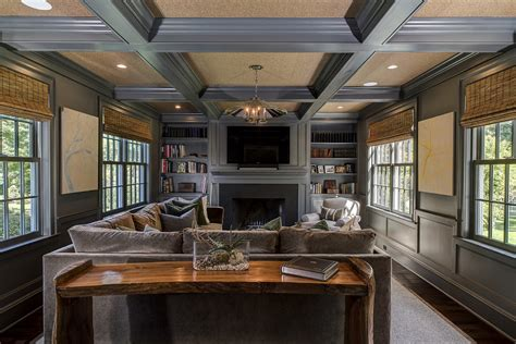 Small Living Room Ideas With Fireplace The Coffered Ceiling For Architectural Enhancement