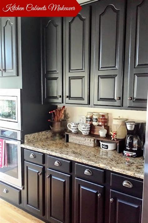 black kitchen cabinet paint painting oak kitchen cabinets get new face of cabinets