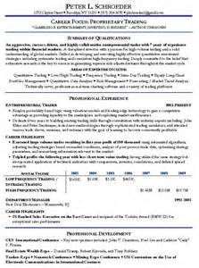 quantitative trading resume example hedge fund manager