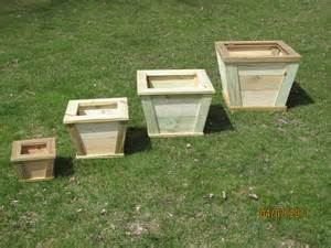 wooden outdoor planter flower box rustic planter wood