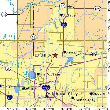 zip code map edmond ok edmond oklahoma ok population data races housing