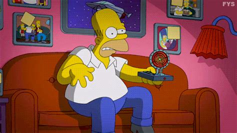 homer simpson couch homer simpson simpsons gif find share on giphy