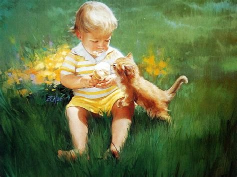 children s painting free for pc kitten paintings donald zolan