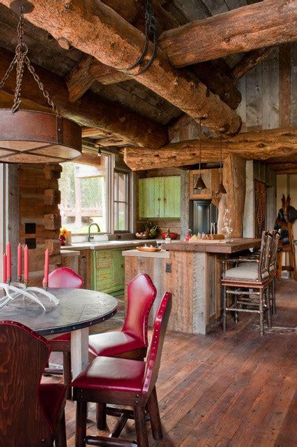 Big Sky Cabin by Headwaters C Cabin Big Sky Montana Rustic Kitchen