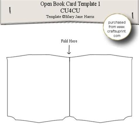 Card Template Open Officefree by Open Book Card Template 1 Cup289564 99 Craftsuprint