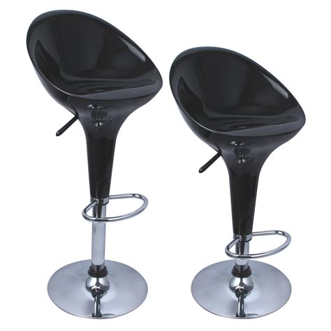 Bombo Style Bar Stools set of 2 bombo style bar stools modern swivel dinning counter chair pair ebay