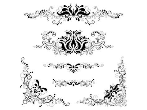 desain bunga cdr 40 floral ornament format cdr gratis album kolase
