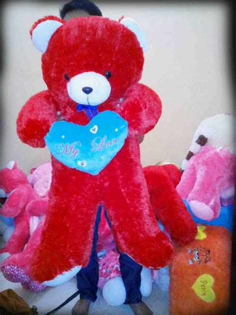 Boneka Teddy Jumbo With I You jual boneka tedy termurah