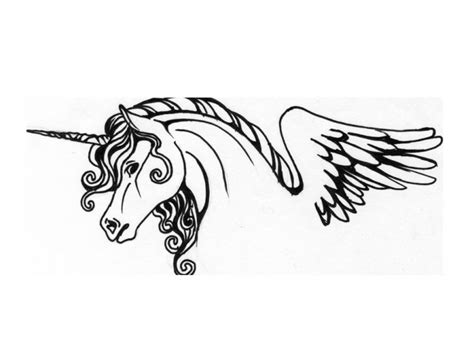 unicorn outline tattoo pictures to pin on pinterest