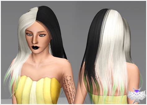 the sims 3 haircolors sants hair half colors by david sims 3 hairs
