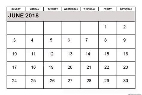 June 2018 Calendar June 2018 Calendar Free Printable Calendars