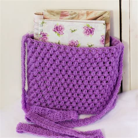 pattern crochet bag free tote bag pattern easy crochet messenger bag pattern