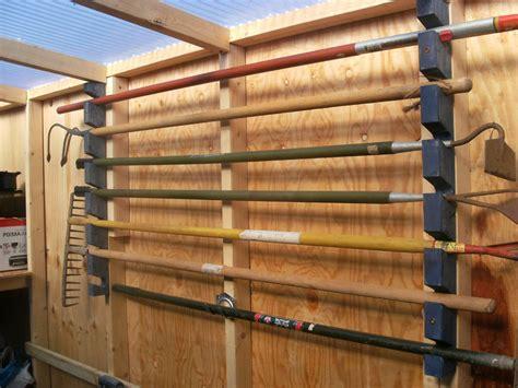Garden Shed Storage Racks by Garden Tool Rack