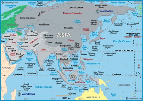 asia map map  asia maps facts  geography  asia