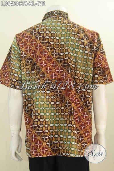 Baju Batik Pria Cap Tulis Size Xl Ct3586ld batik hem istimewa dengan harga biasa baju batik kerja pria dewasa size xl berbahan adem motif