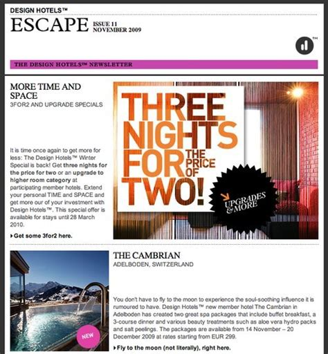 hotel newsletter layout email newsletter exles newsletter design sailthru