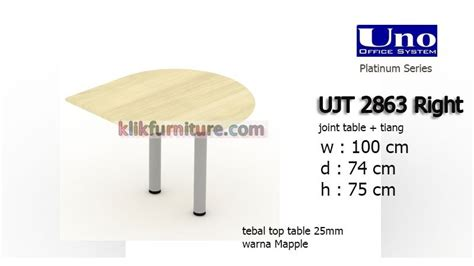 ujt 2863 right uno joint table meja kantor