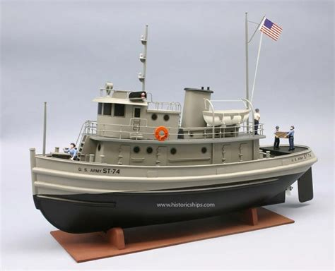 model boats plastic army tug st 74 scale model boat kit by dumas models