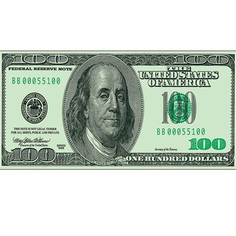 100 dollar bill cling