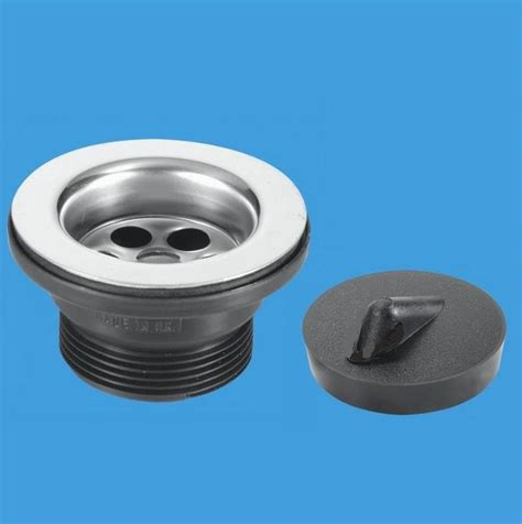 mcalpine stainless steel kitchen sink waste 70mm flange